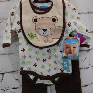 Infant 3pc. Bodysuit w/ bib & Pants